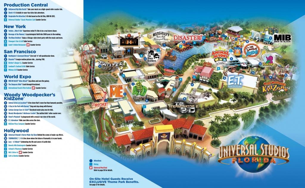 Orlando Universal Studios Florida Map - Universal Parks Florida Map