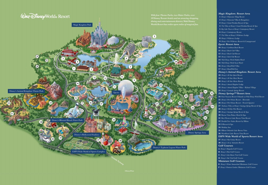 Orlando Walt Disney World Resort Map | Destination: Disney In 2019 - Printable Disney World Maps 2017