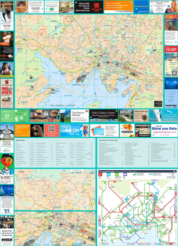 Oslo Tourist Map - Printable Map Of Oslo Norway