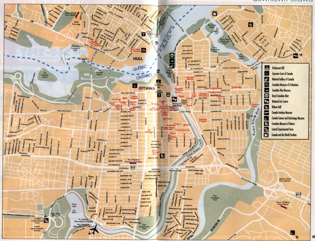 Ottawa Map, Map Of Ottawa, Ontario, Canada, Maps For Ottawa - Printable Map Of Ottawa