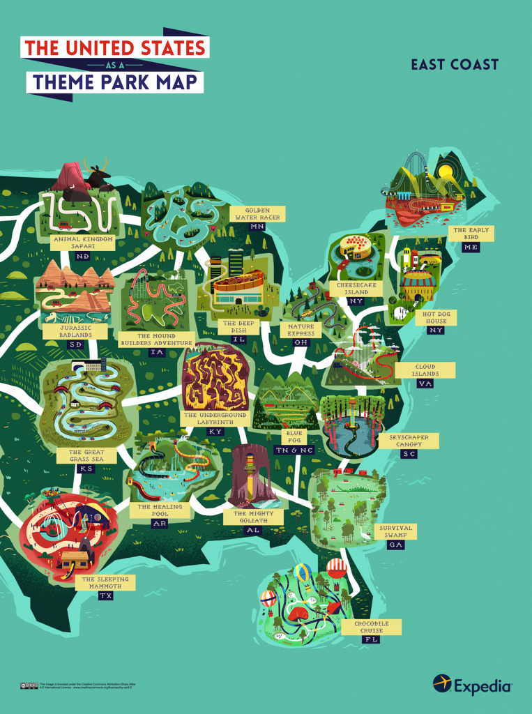 Outdoor Adventure: A Theme Park Map Of The United States | Expedia - Map Of Amusement Parks In Florida