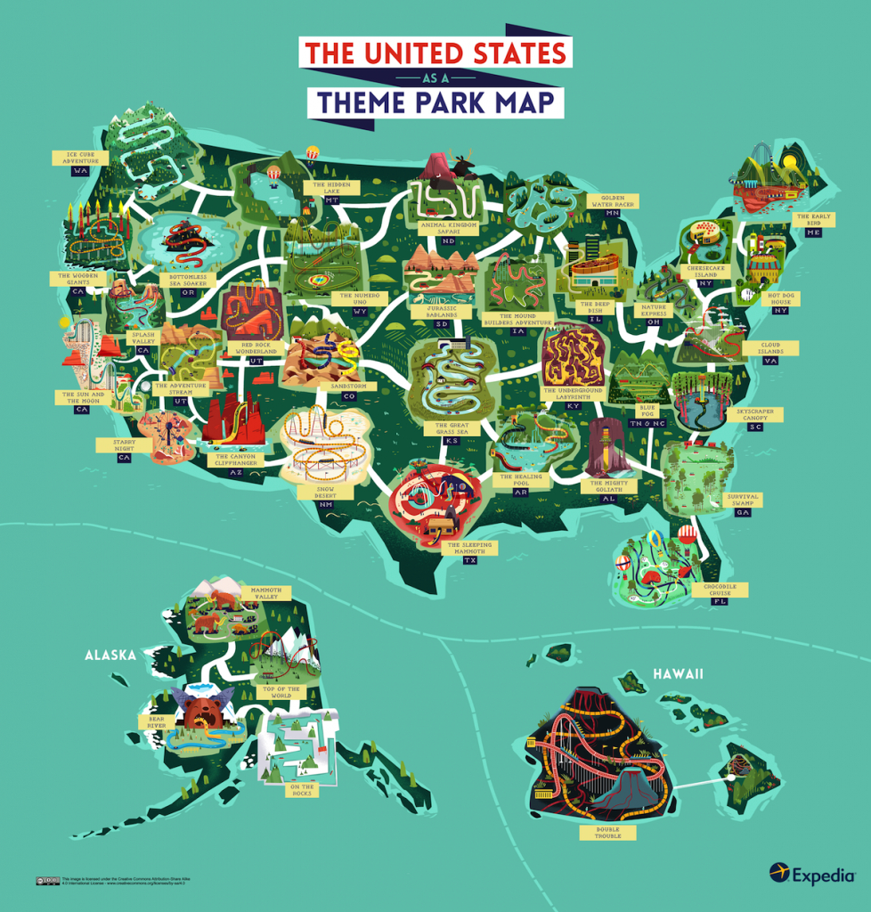 Outdoor Adventure: A Theme Park Map Of The United States | Expedia - Southern California Theme Parks Map