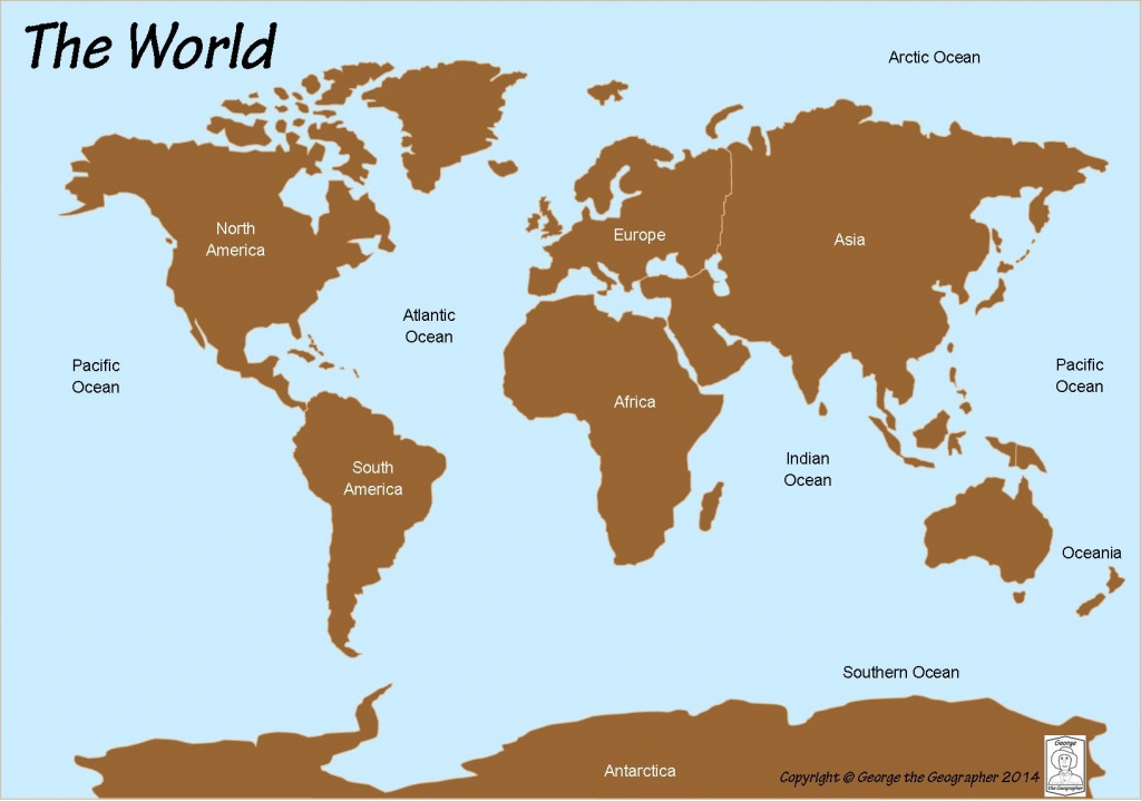 Outline Base Maps - World Map Oceans And Continents Printable