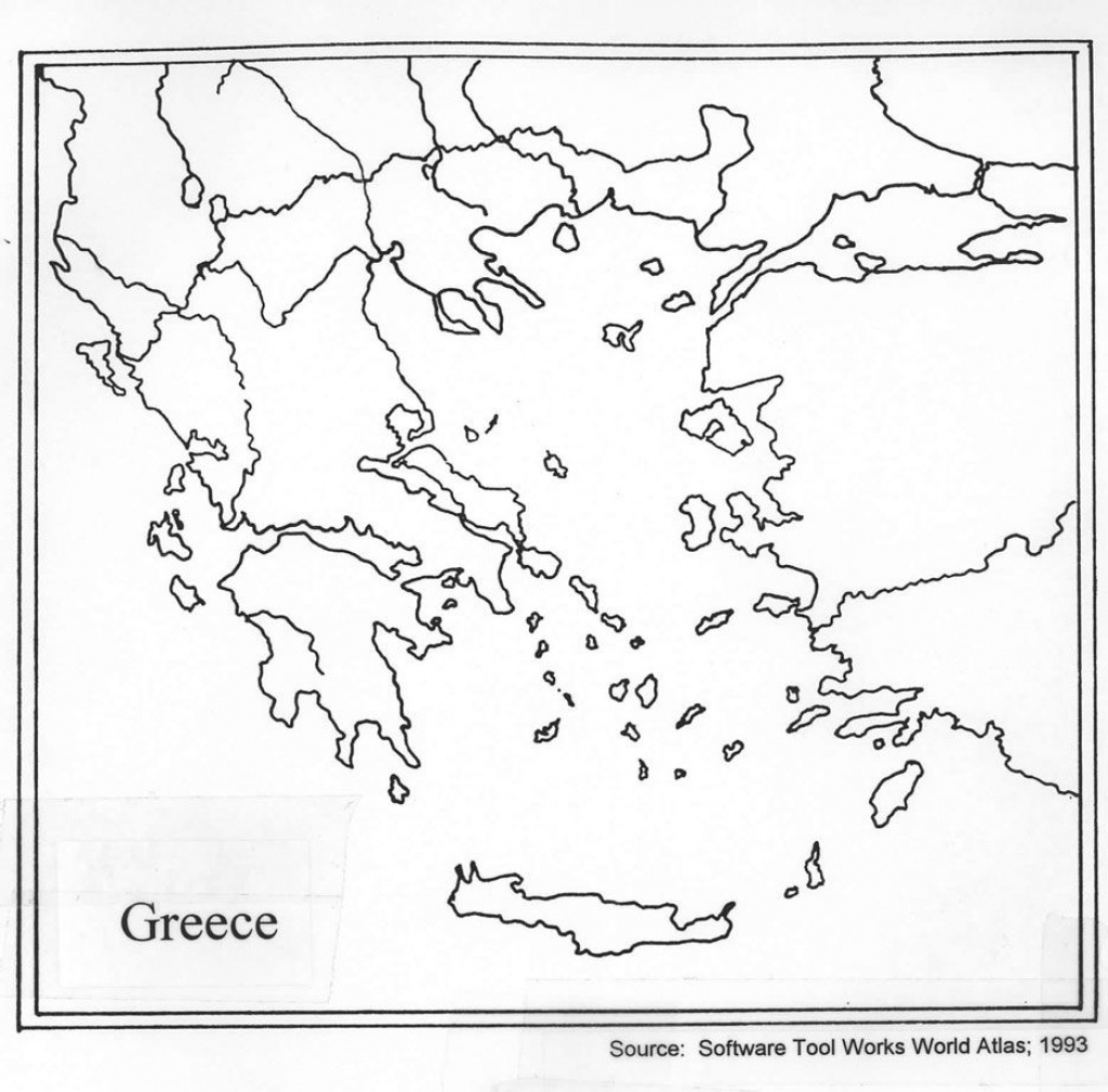 Outline Map Of Ancient Greece And Travel Information | Download Free - Outline Map Of Ancient Greece Printable