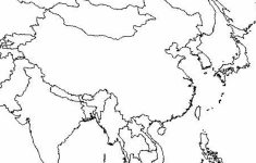 Outline Map Of Asia And Middle East Free Printable Coloring Page   Asia Outline Map Printable
