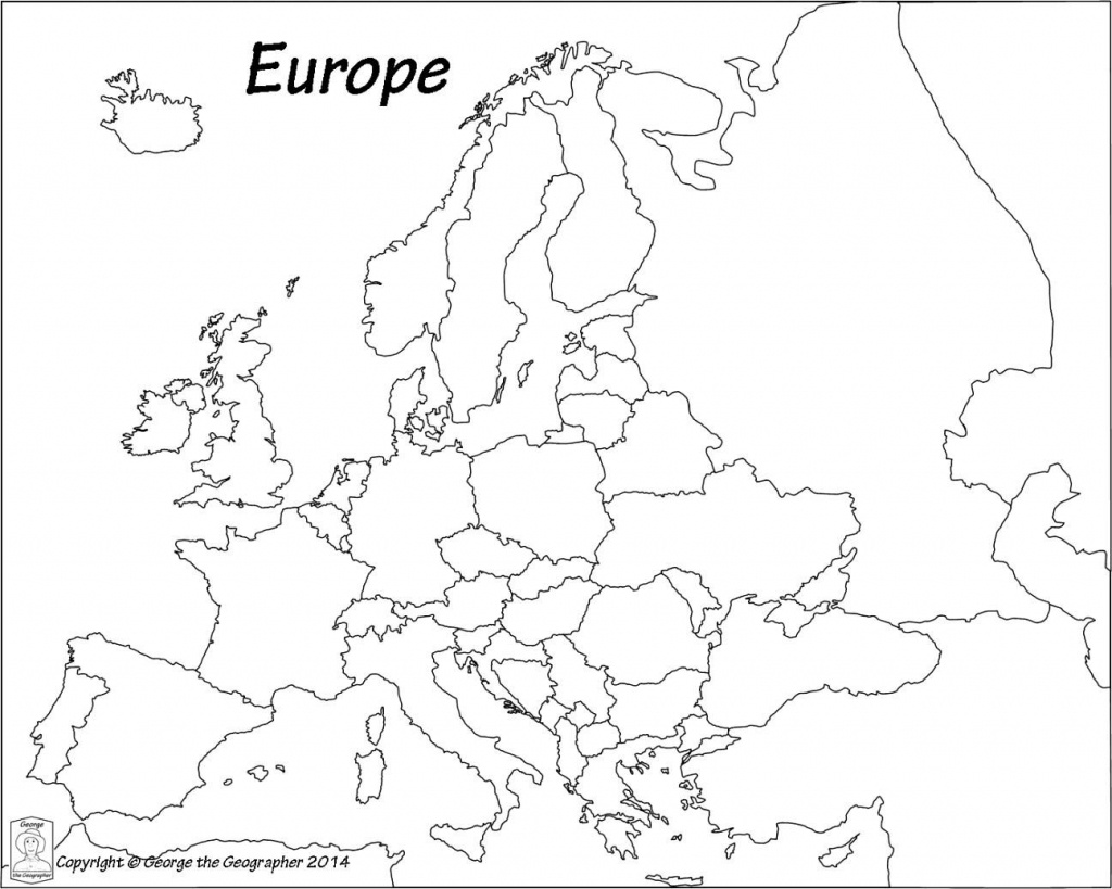 Outline Map Of Europe Political With Free Printable Maps And - Map Of Europe For Kids Printable