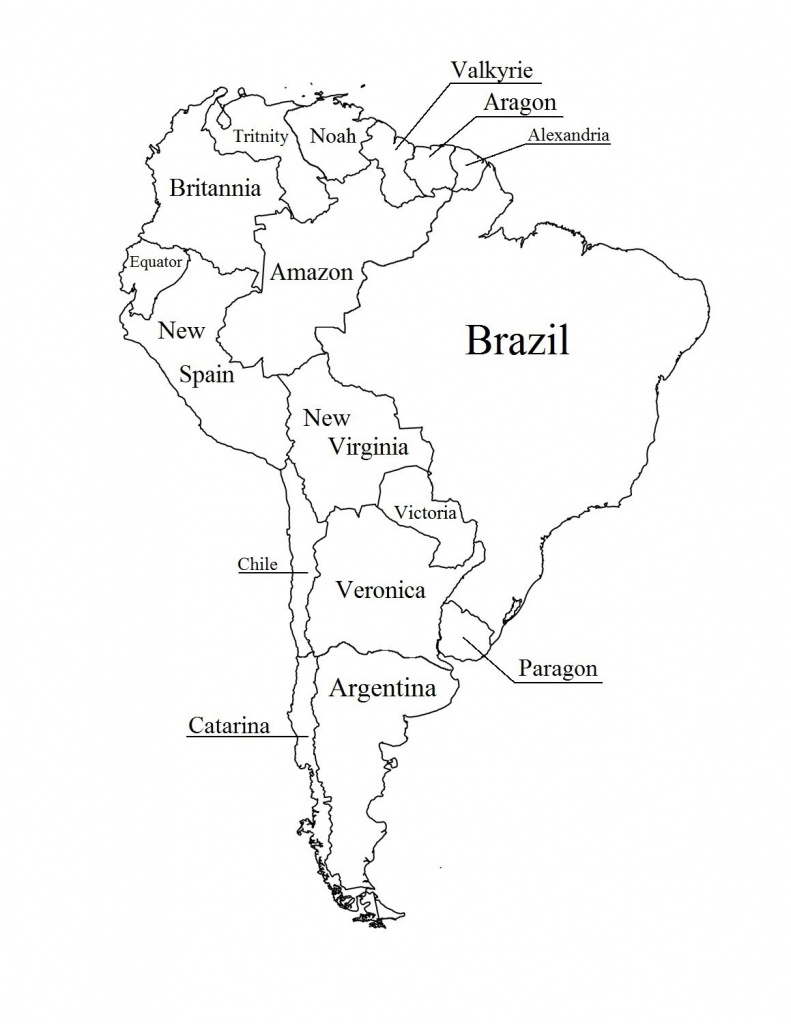 Outline Map Of South America Printable With Blank North And For New - Printable Map Of North And South America
