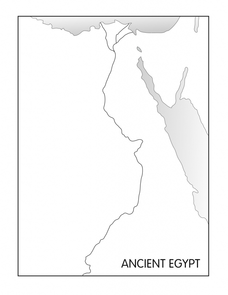 Outline Maps: Ancient Egypt And Greece - Five J's Homeschool - Outline Map Of Ancient Greece Printable