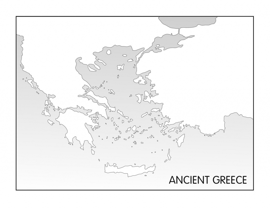 Outline Maps: Ancient Egypt And Greece | Random | Ancient Greece - Outline Map Of Greece Printable