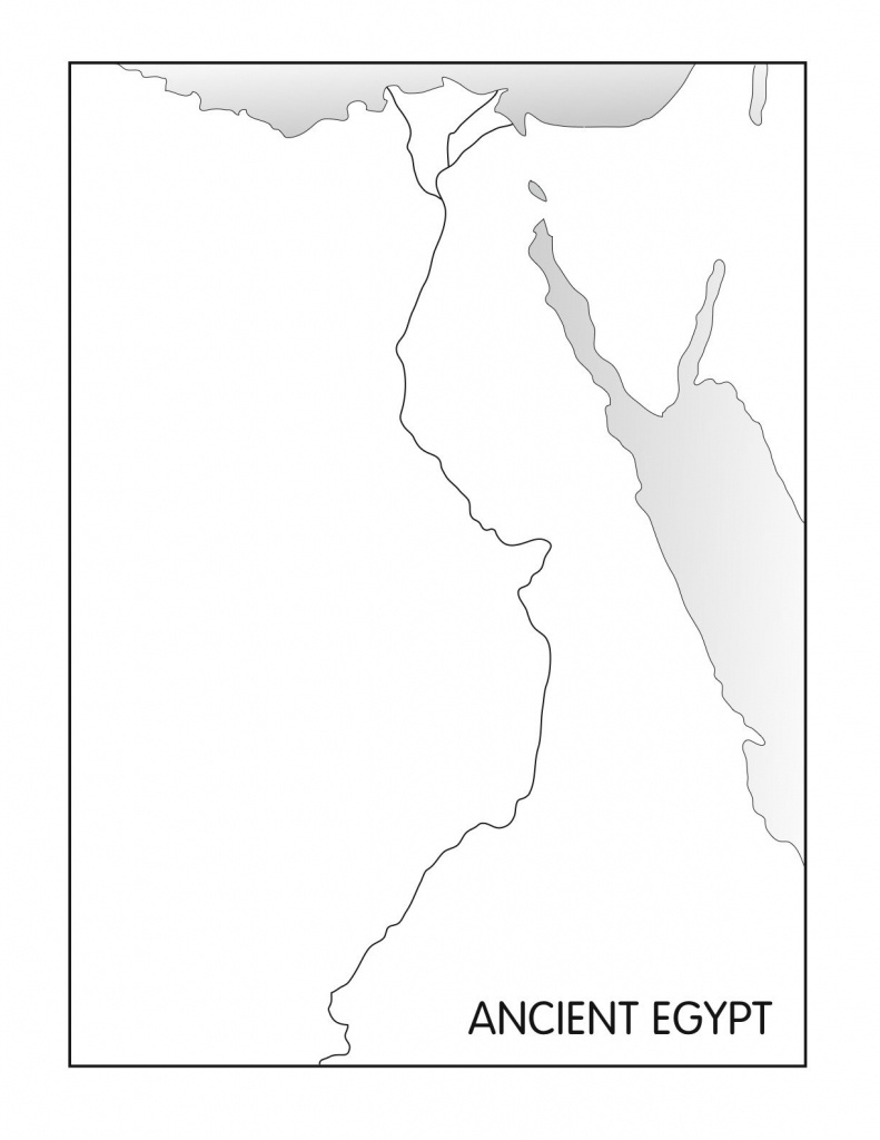 Outline Maps: Ancient Egypt And Greece | Social Studies | Egypt Map - Printable Map Of Egypt