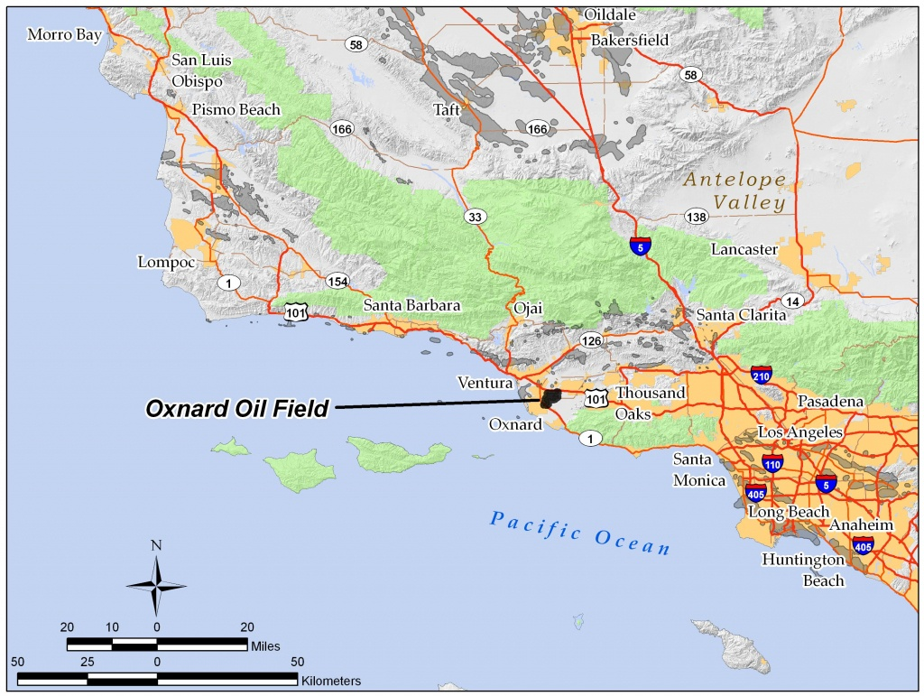 Oxnard Oil Field - Wikipedia - Oxnard California Map