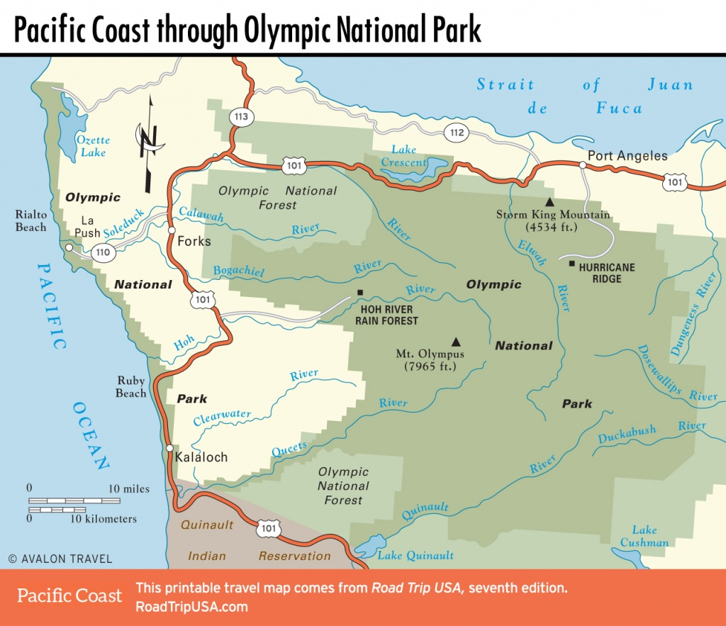 Pacific Coast Route Through Washington State | Road Trip Usa - Washington Oregon California Coast Map