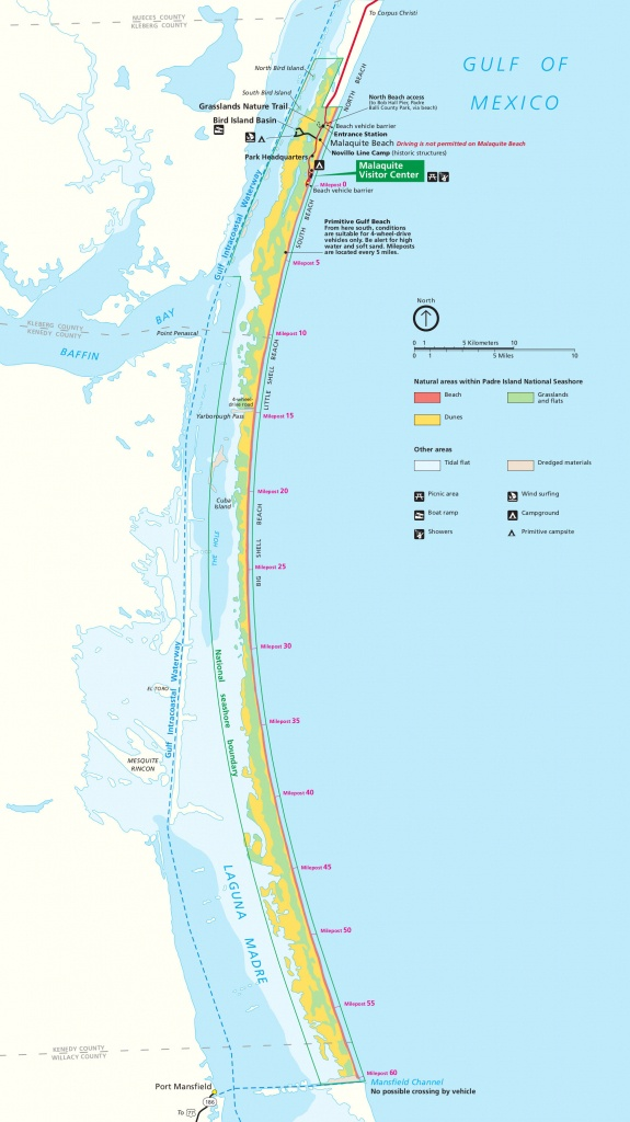 Padre Island Maps | Npmaps - Just Free Maps, Period. - Texas Beaches Map