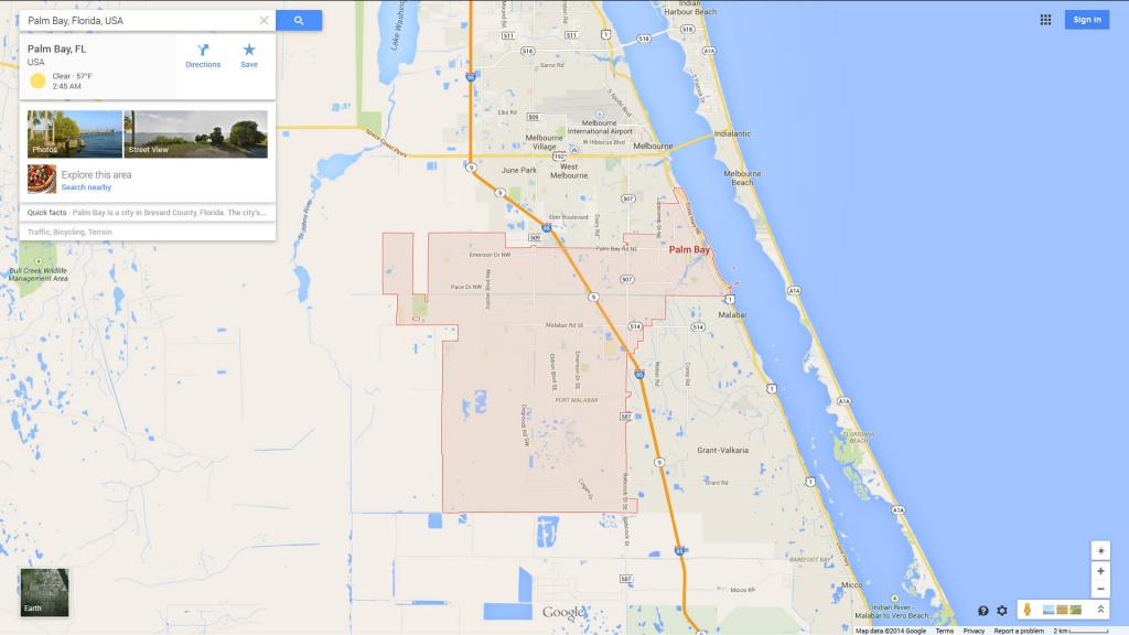 Palm Bay Florida Map - Palm City Florida Map