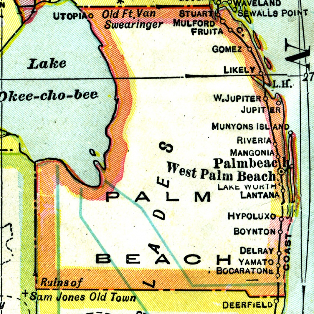 Palm Beach County, 1921 - Map Of Palm Beach County Florida