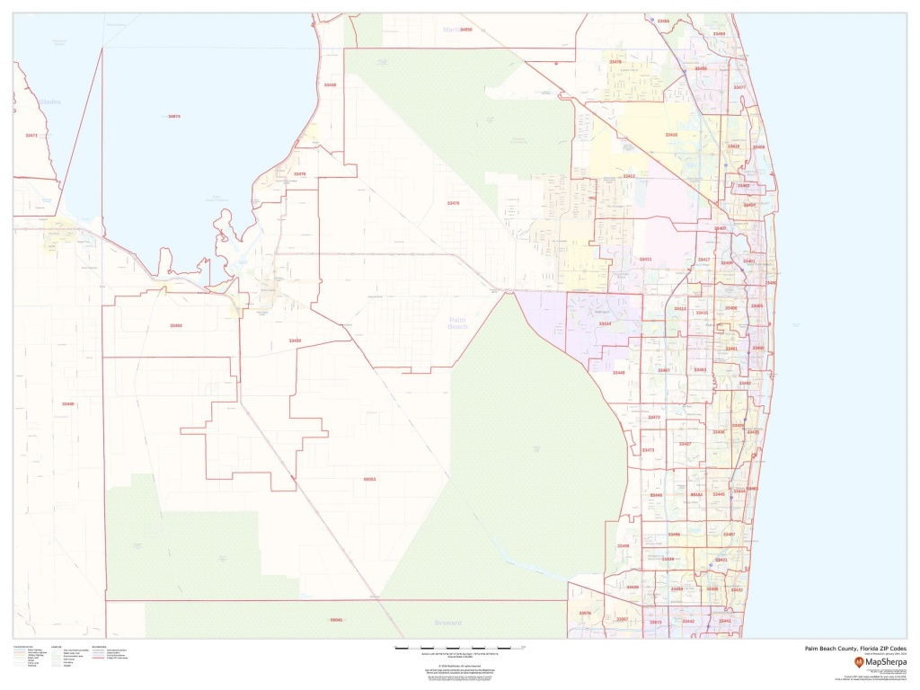 Palm Beach County Zip Code Map - Zip Code Map Of Palm Beach County Florida