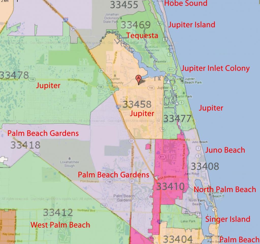 Palm Beach Gardens, Jupiter Florida Real Estatezip Code - Florida Real Estate Map