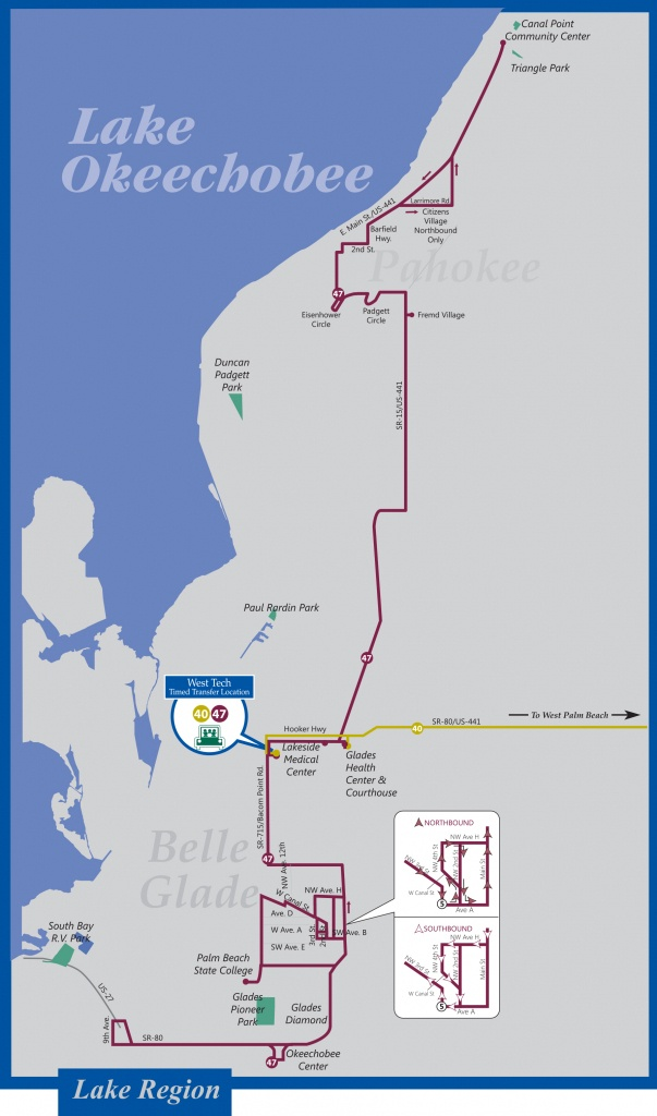 Palm Tran Bus Service - Juno Beach Florida Map
