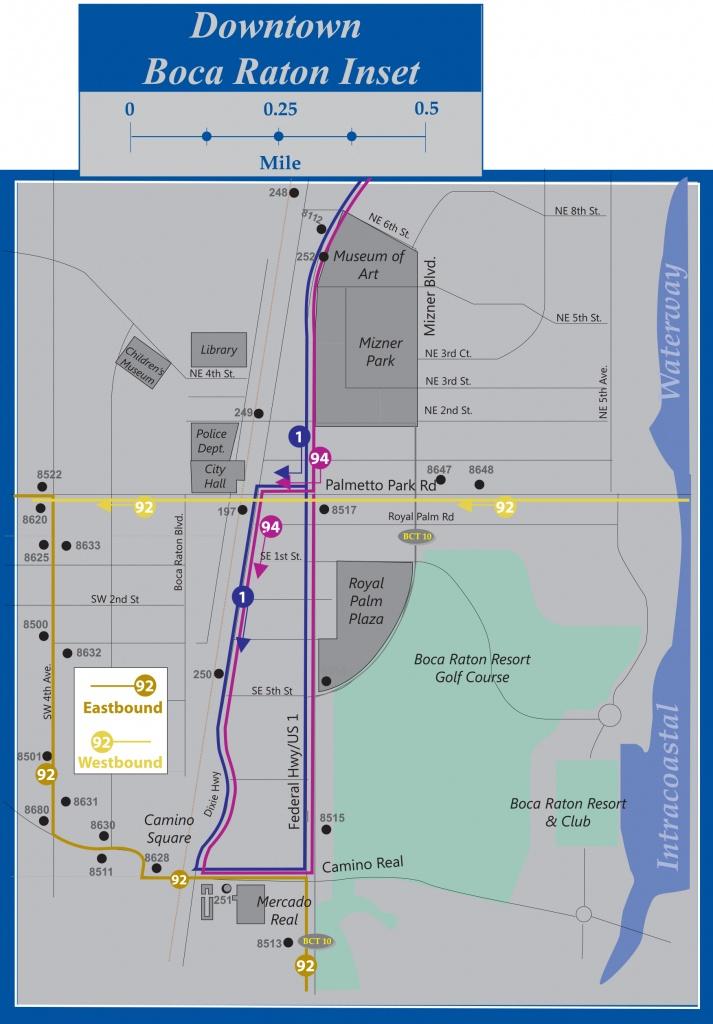 Palm Tran Bus Service - Wellington Florida Map