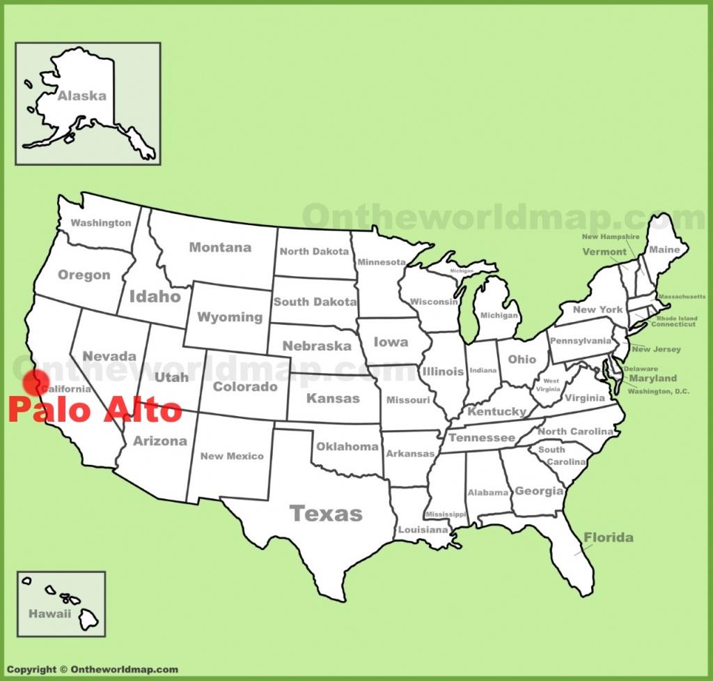 Palo Alto Location On The U.s. Map - Palo Alto California Map