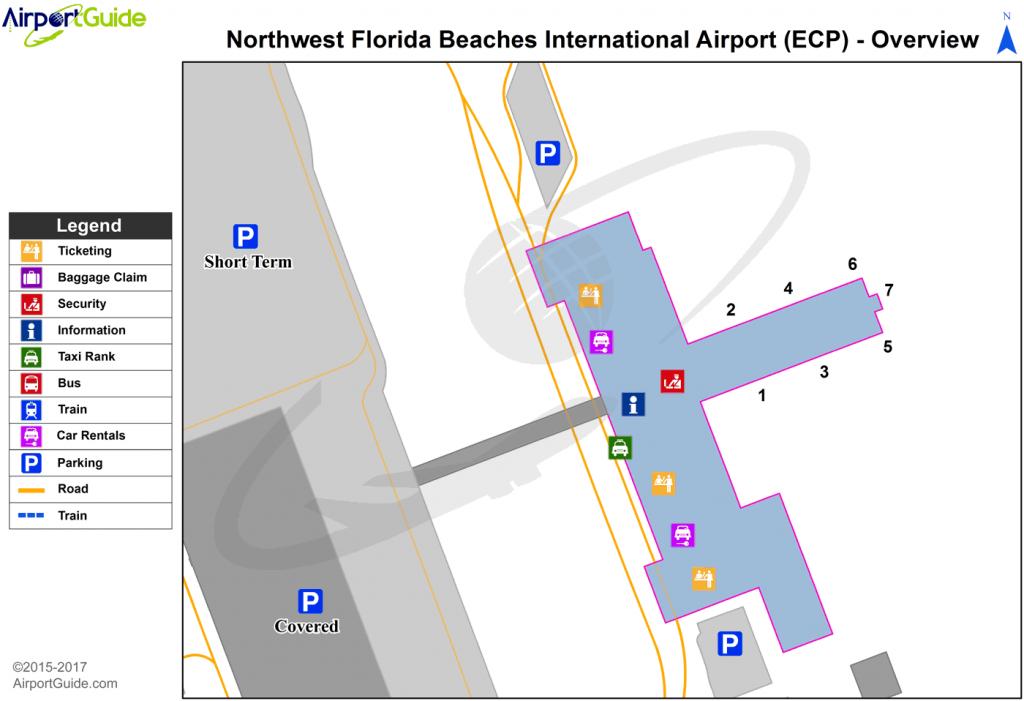 Panama City - Northwest Florida Beaches International (Ecp) Airport - Northwest Florida Beaches Map