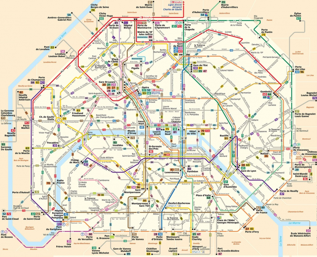 Paris Attractions Map Pdf - Free Printable Tourist Map Paris, Waking - Printable Map Of Paris City Centre