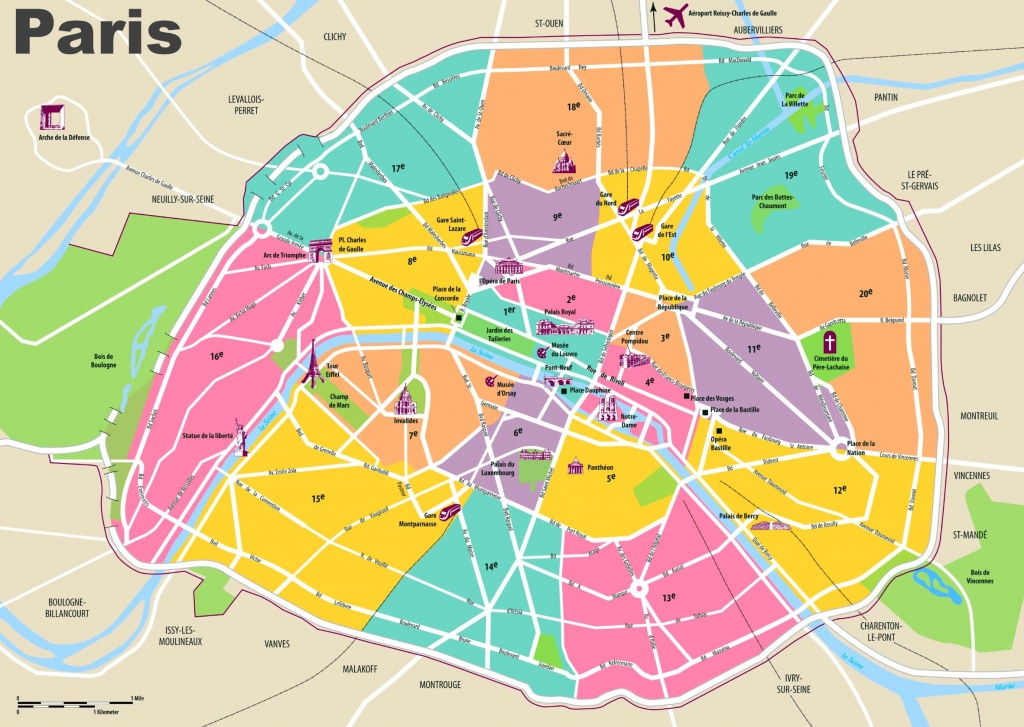 Paris Maps | France | Maps Of Paris - Paris City Map Printable