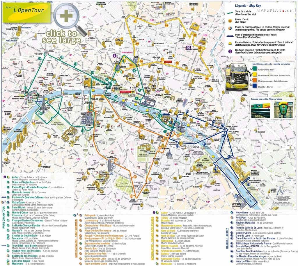 Paris Maps - Top Tourist Attractions - Free, Printable - Mapaplan - Paris Tourist Map Printable