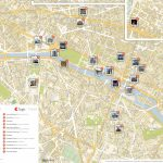 Paris Printable Tourist Map | Sygic Travel   Printable Travel Map