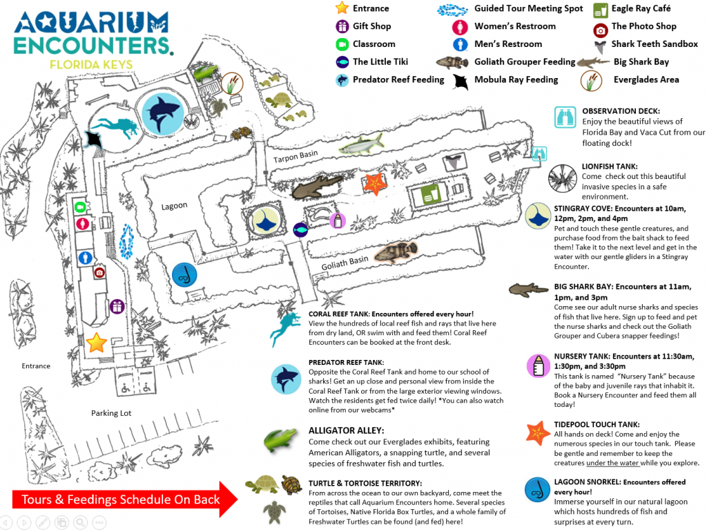 Park-Map-112016 - Florida Keys Aquarium Encounters - Florida Aquarium Map