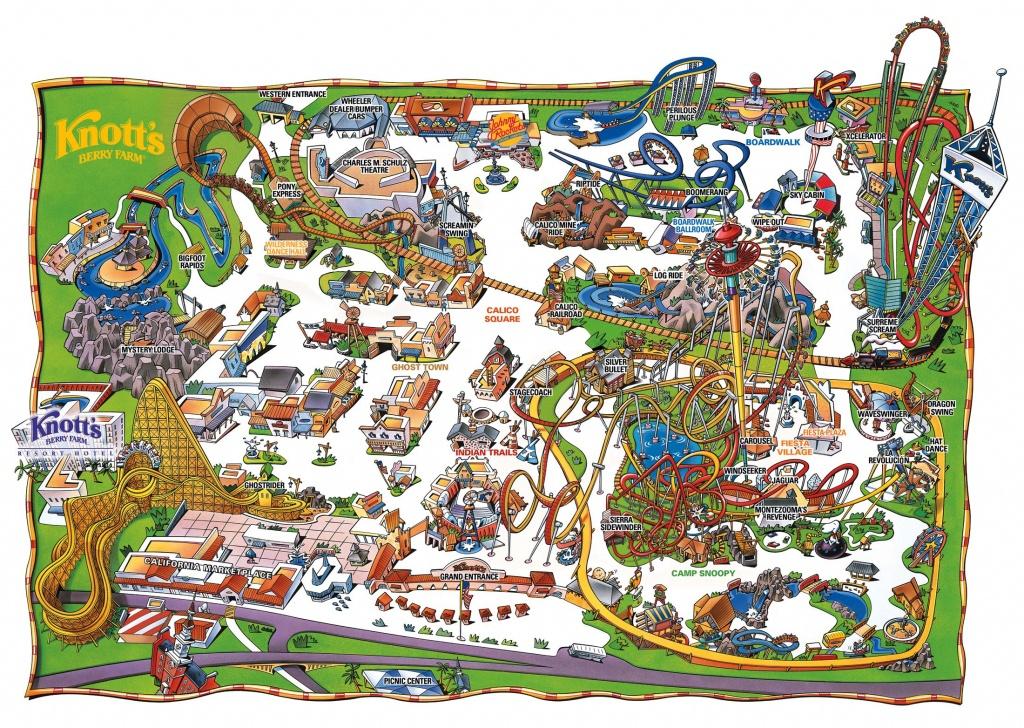 Park Map | Knott's Berry Farm, Buena Park, Ca | Rides In 2019 - Knotts Berry Farm Map California