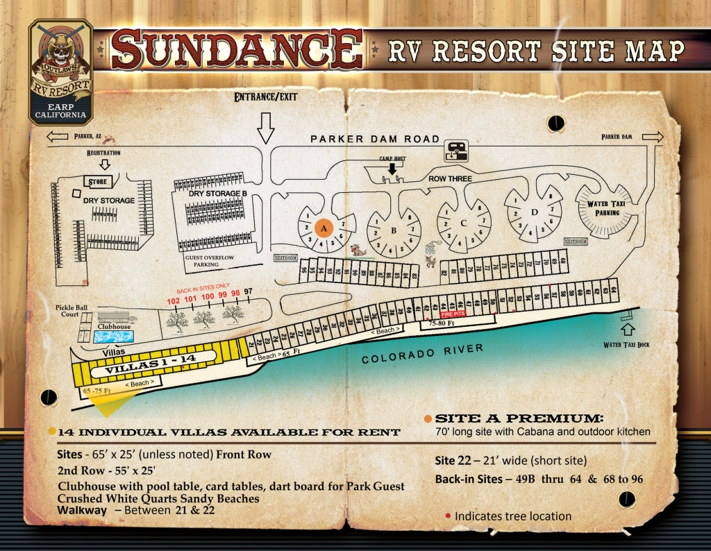 Park Map - Sundance - Earp California Map