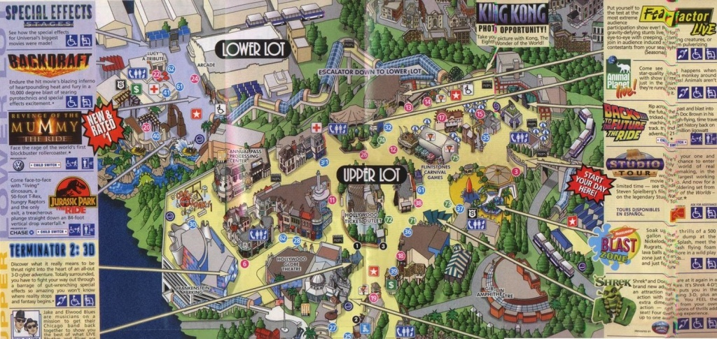 Park Map | Universal Studios Hollywood, This Is A Simplified Map - Universal Studios California Map