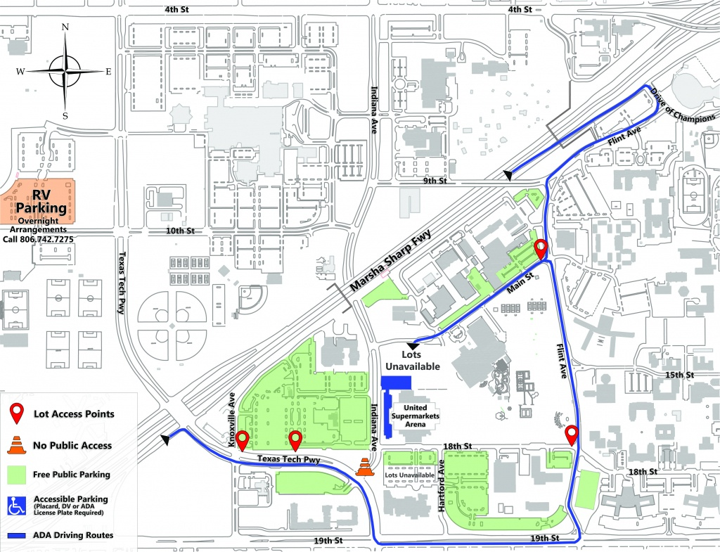 Parking Areas For Commencement | Commencement | Office Of The - Texas State Fair Parking Map