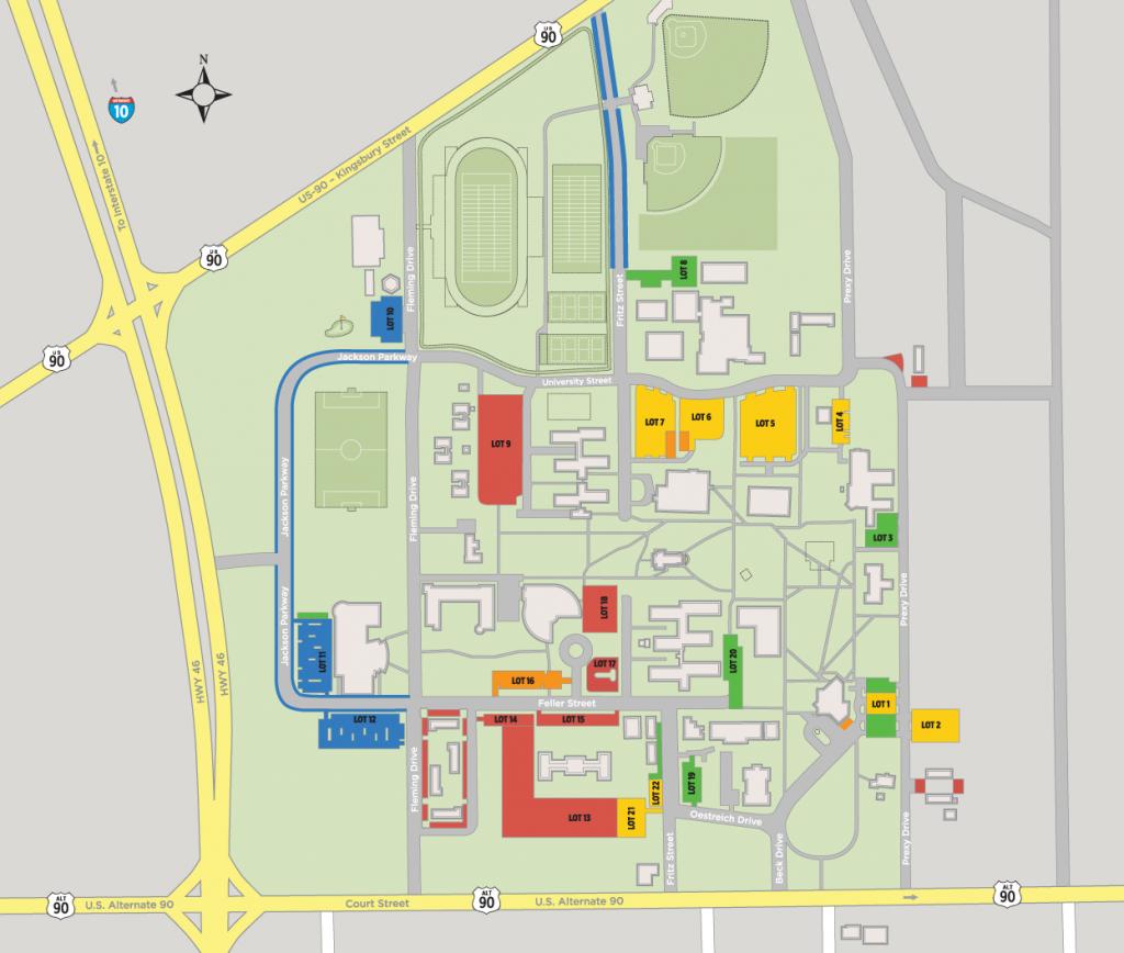 Parking Map - Seguin Texas Map