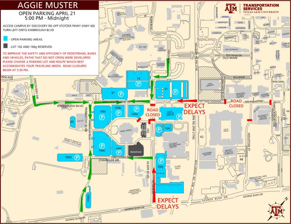Parking Map Tamu | Dehazelmuis - Texas A&m Location Map