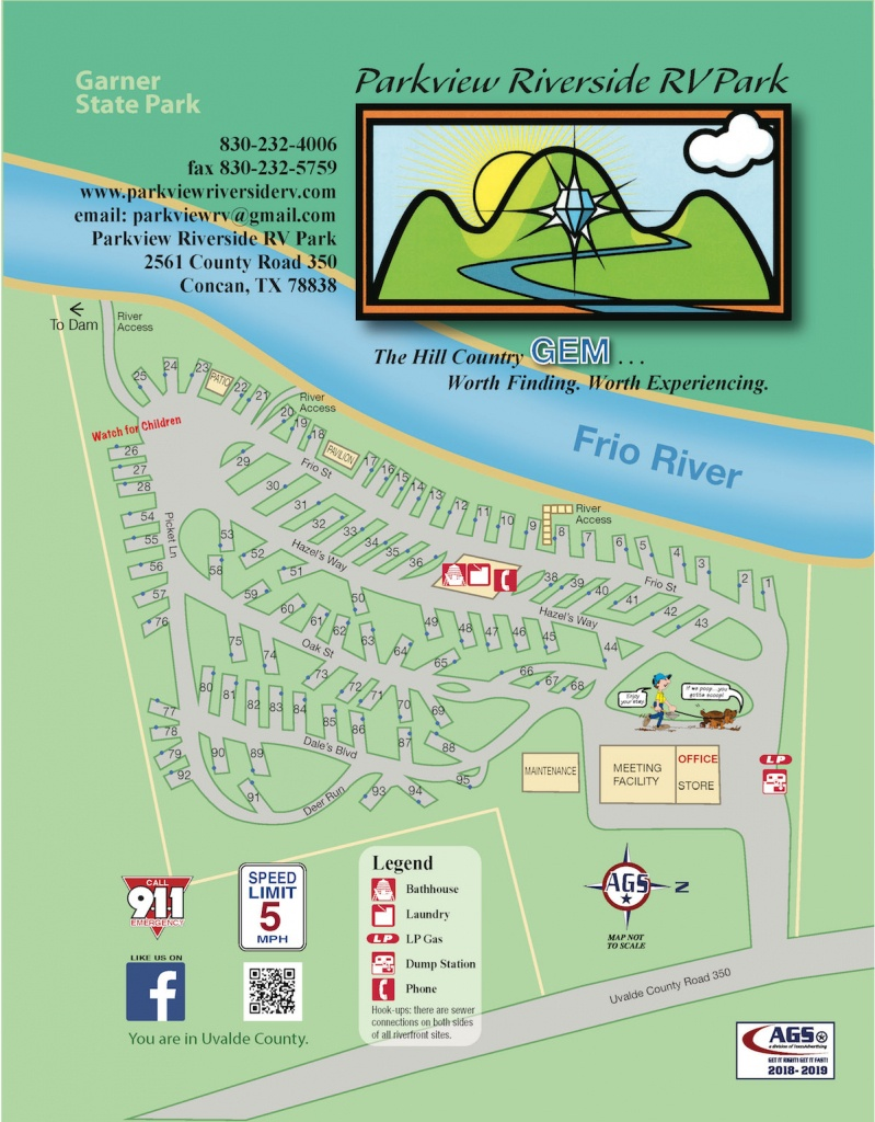 Parkview Riverside Rv Park | South Texas Rv Park And Camping - South Texas Rv Parks Map