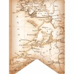 Partylark Printables: Antiqued Map Of Ireland On Banner Flag, For   Printable Map Banner