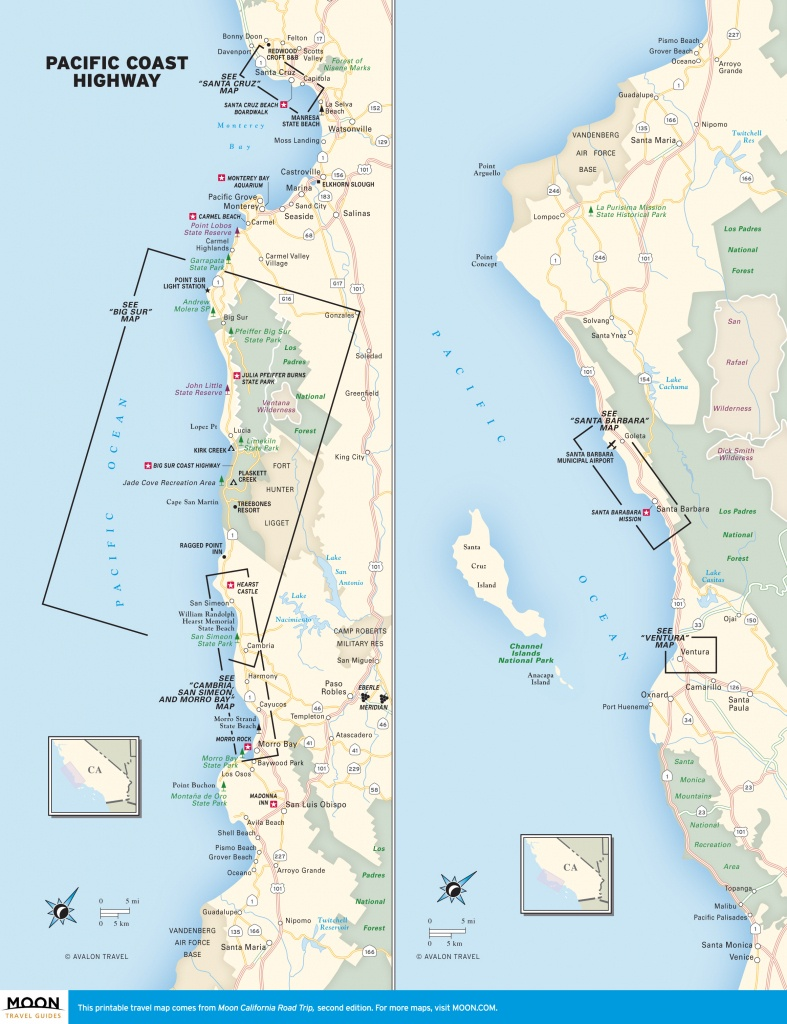 Pch In California: Pacific Coast Highway Beaches | Road Trip Usa - Map Of California Coast Beaches