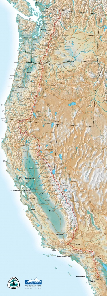 Pct Maps - Backpacking Maps California