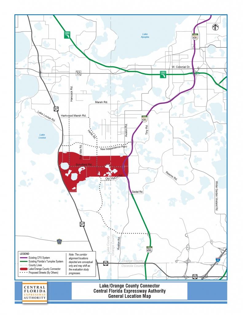 Pd&e Study - Lake/orange County Connector   Central Florida - Orange County Florida Parcel Map
