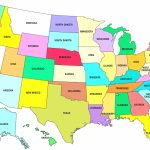 Pdf Printable Us States Map Awesome Map United States America With   Printable United States Map Pdf
