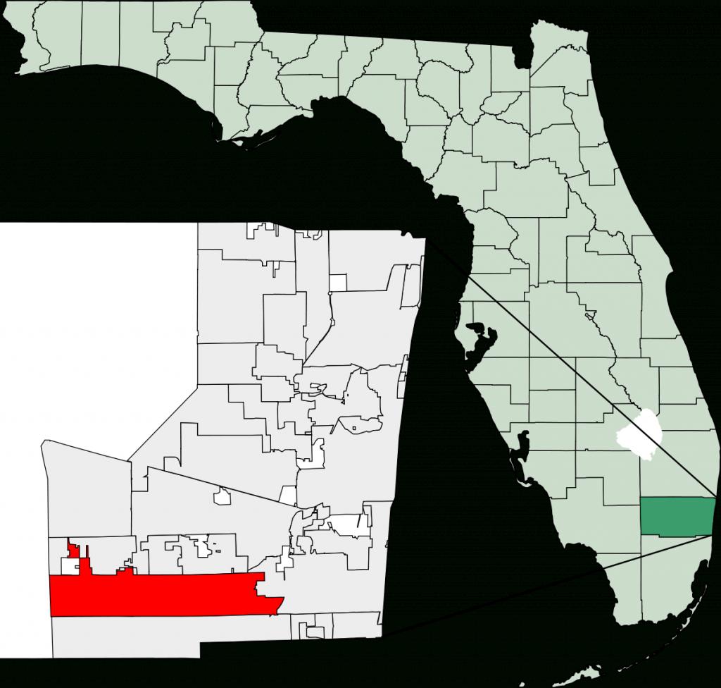 Pembroke Pines, Florida - Wikipedia - Peacock Bass Florida Map