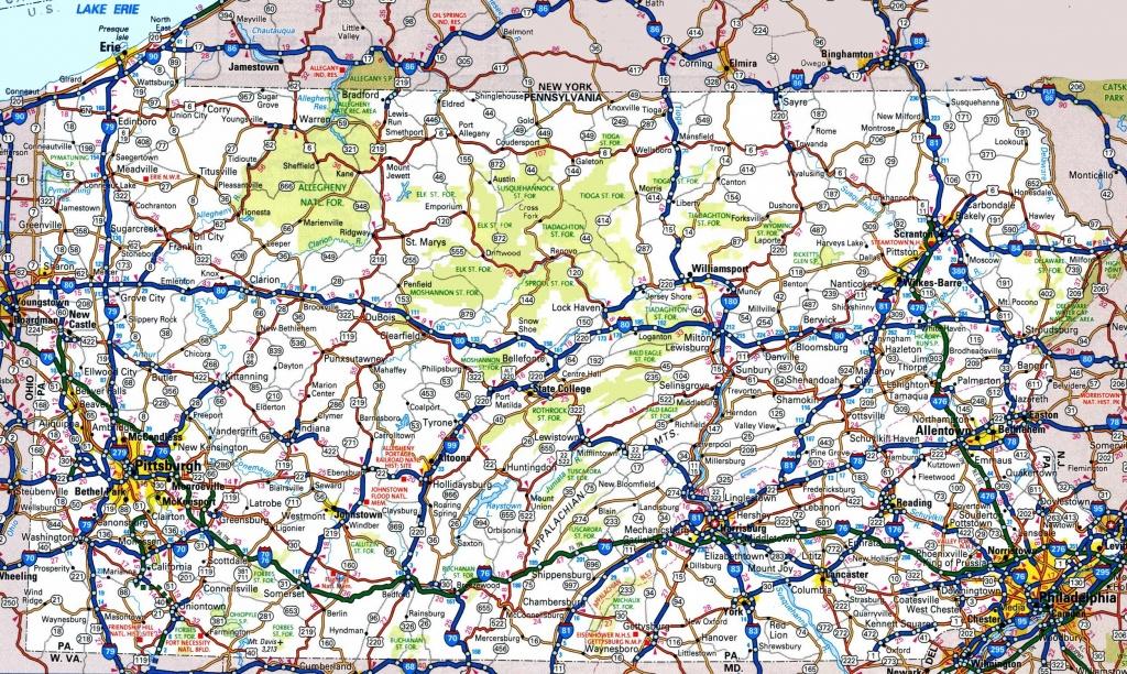 Pennsylvania Road Map - Printable Road Map Of Pennsylvania