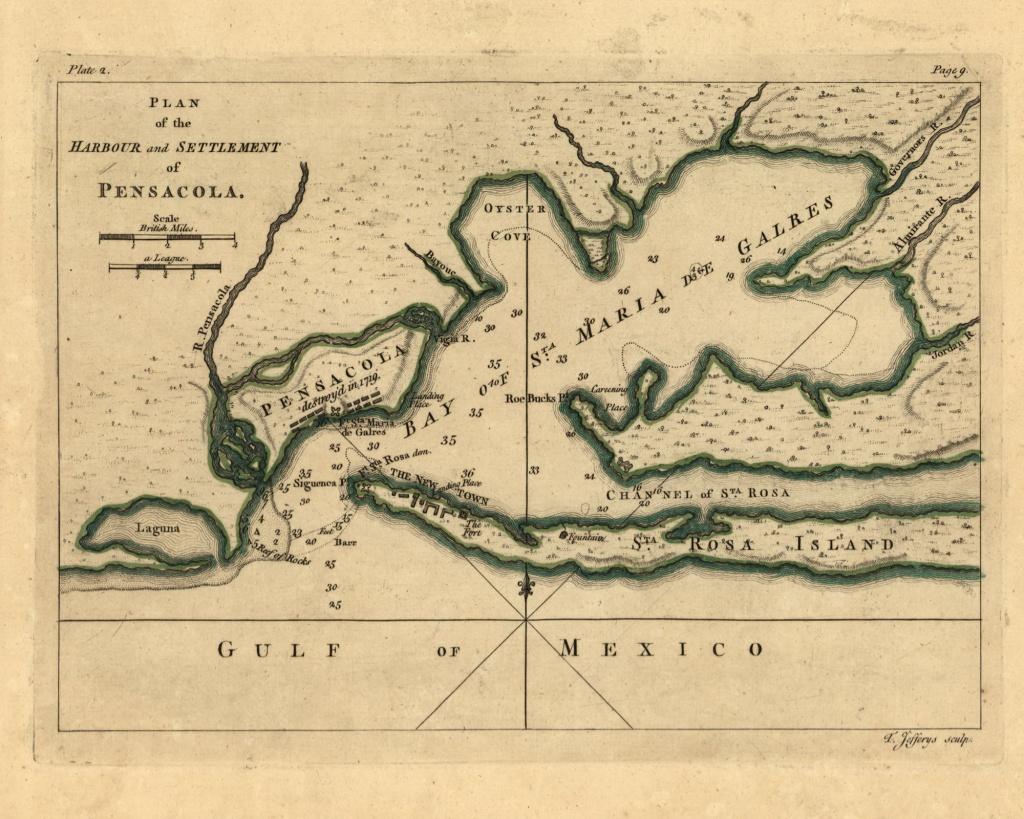 Pensacola Bay 1768 Florida Old Map Reprint Usa 1768 Atlas | Etsy - Florida Old Map