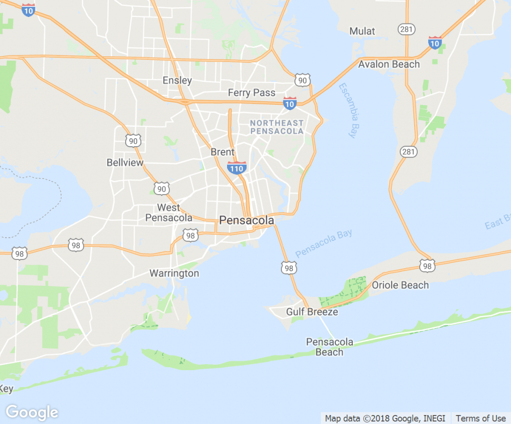 Pensacola-Florida-Map - Blip Billboards - Where Is Pensacola Florida On A Map