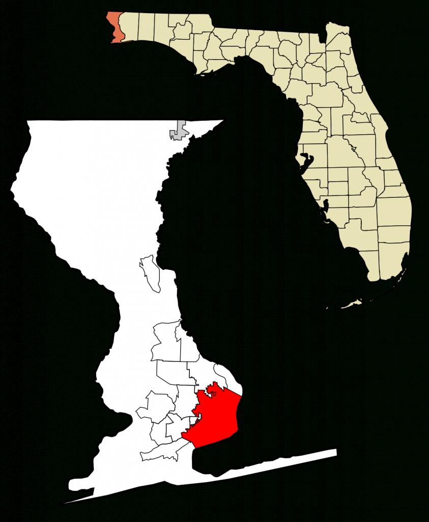 Pensacola, Florida - Wikipedia - Map Of Escambia County Florida