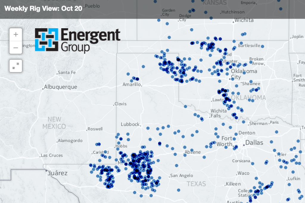 Permian Basin Leads With 560 Rigs - Texas Rig Count Map
