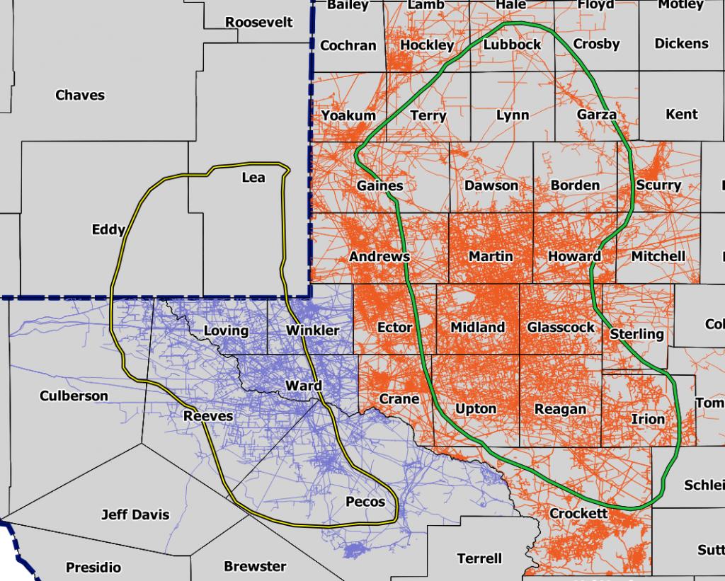 Permian Basin Map, Acreage Map, Company Map - Permian Basin Texas Map