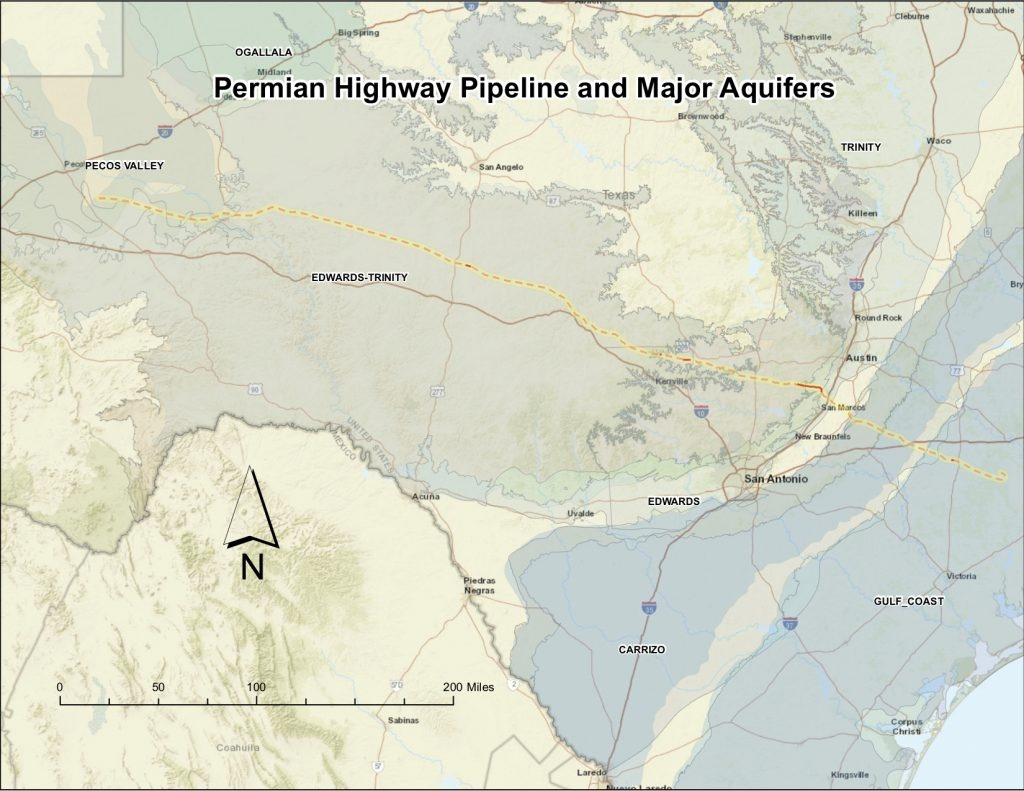 Permian Highway Pipeline - Wimberley Valley Watershed Association - Kinder Morgan Pipeline Map Texas